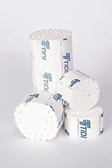 "TIDI DENTAL COTTON ROLLS #2 MEDIUM 3/8"" X 1.5"" BOX/2000 EACH"