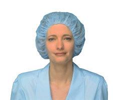 BOUFFANT CAP PREMIUM 24″ BLUE LATEX FREE