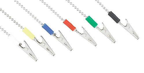 DENTAL BIB METAL BALL CHAIN WITH CLIPS ASSORTED COLOUR BANDS PKG/6 EACH