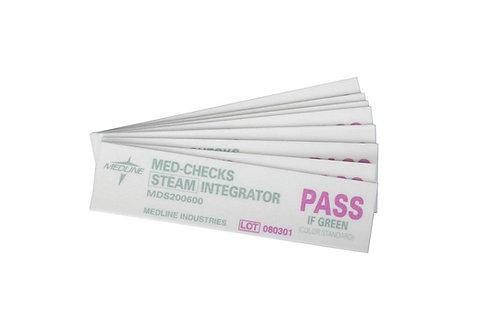 """MED-CHECKS CLASS 5 STEAM STERILIZER INTEGRATOR STRIP 4"""" BOX/250 EACH"""