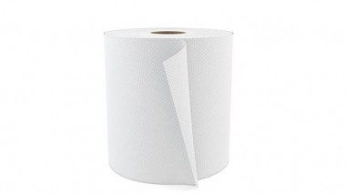 PAPER TOWEL 800' HARDWOUND ROLL PAPER WHITE CASE/6 EACH
