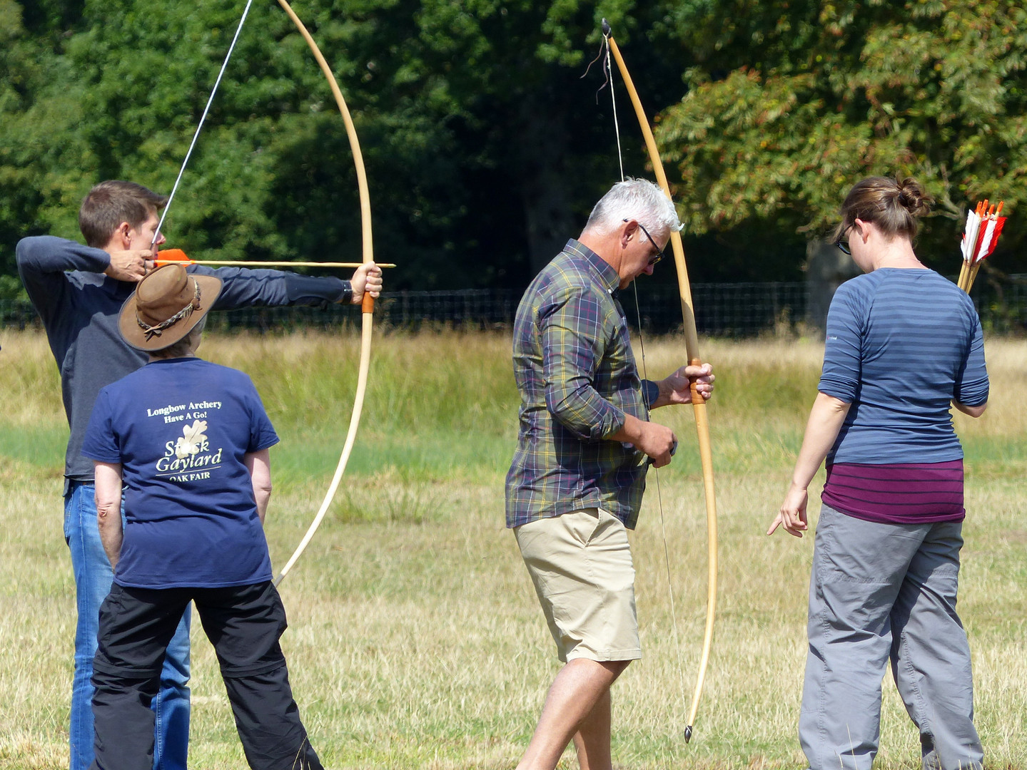 Archery have a go Oak Fair Dorset