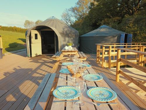 Yurt Glamping Dorset Dining Table