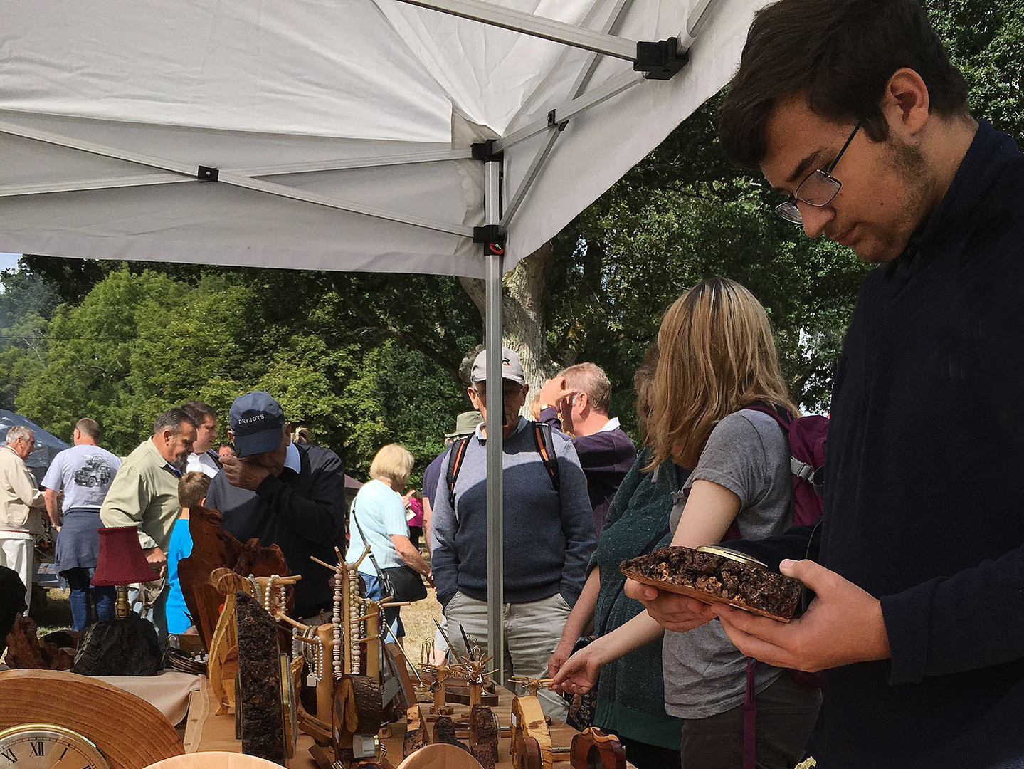 Wooden Clock Oaks Fair
