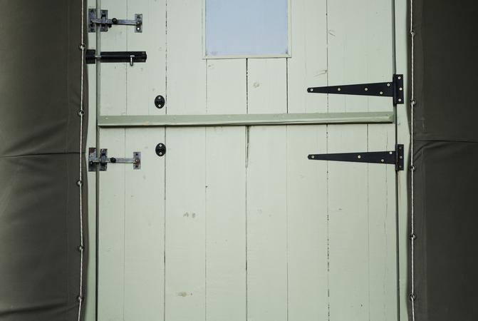 Yurt Glamping Stable Door Welly Boots Dorset