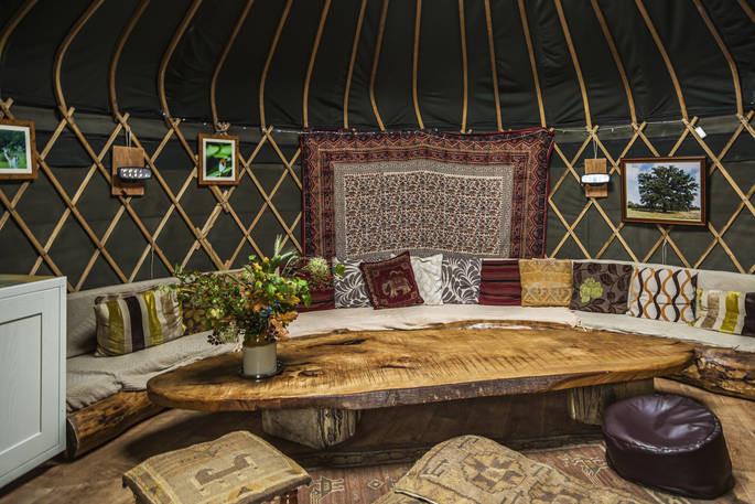 Yurt Glamping Living Room Sofa Flowers