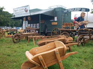 Woodcraft handmade wheelbarrow