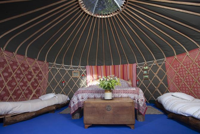 Yurt Glamping Bedroom