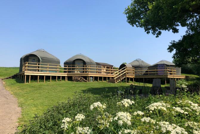 Yurt Glamping Decking Countryside Dorset