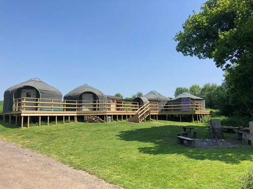 Withybed Stock Gaylard Yurts Dorset on Decking
