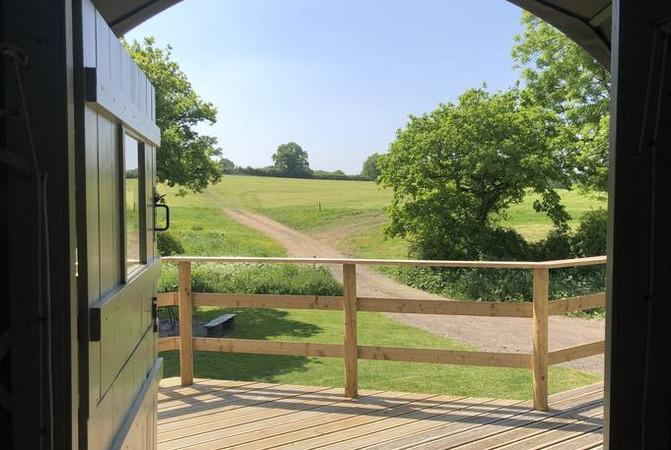 Yurt Glamping Stable Door Country View Dorset