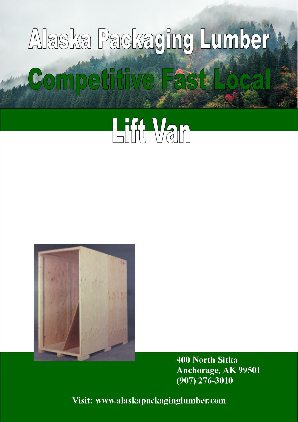 Green Portrait Lift Van