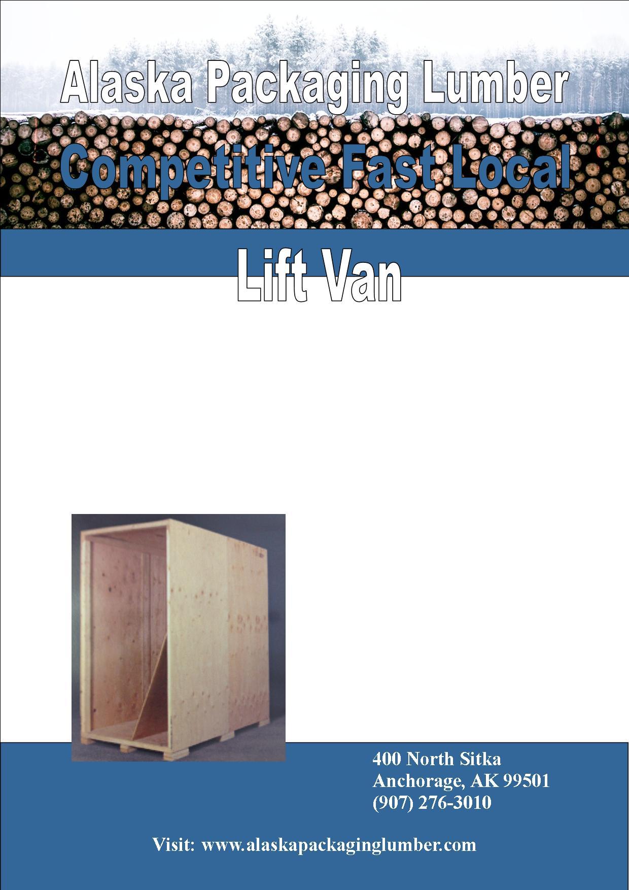 Blue Lift Van