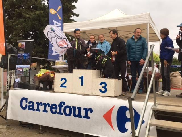 Canicross : Luce sur le podium!