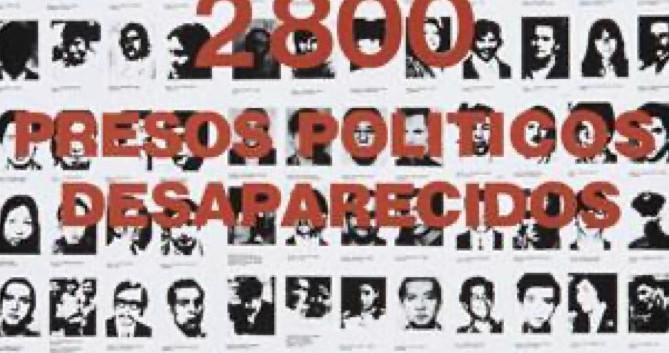 66. En Chile 2800 Presos Politicos Desparicidos
