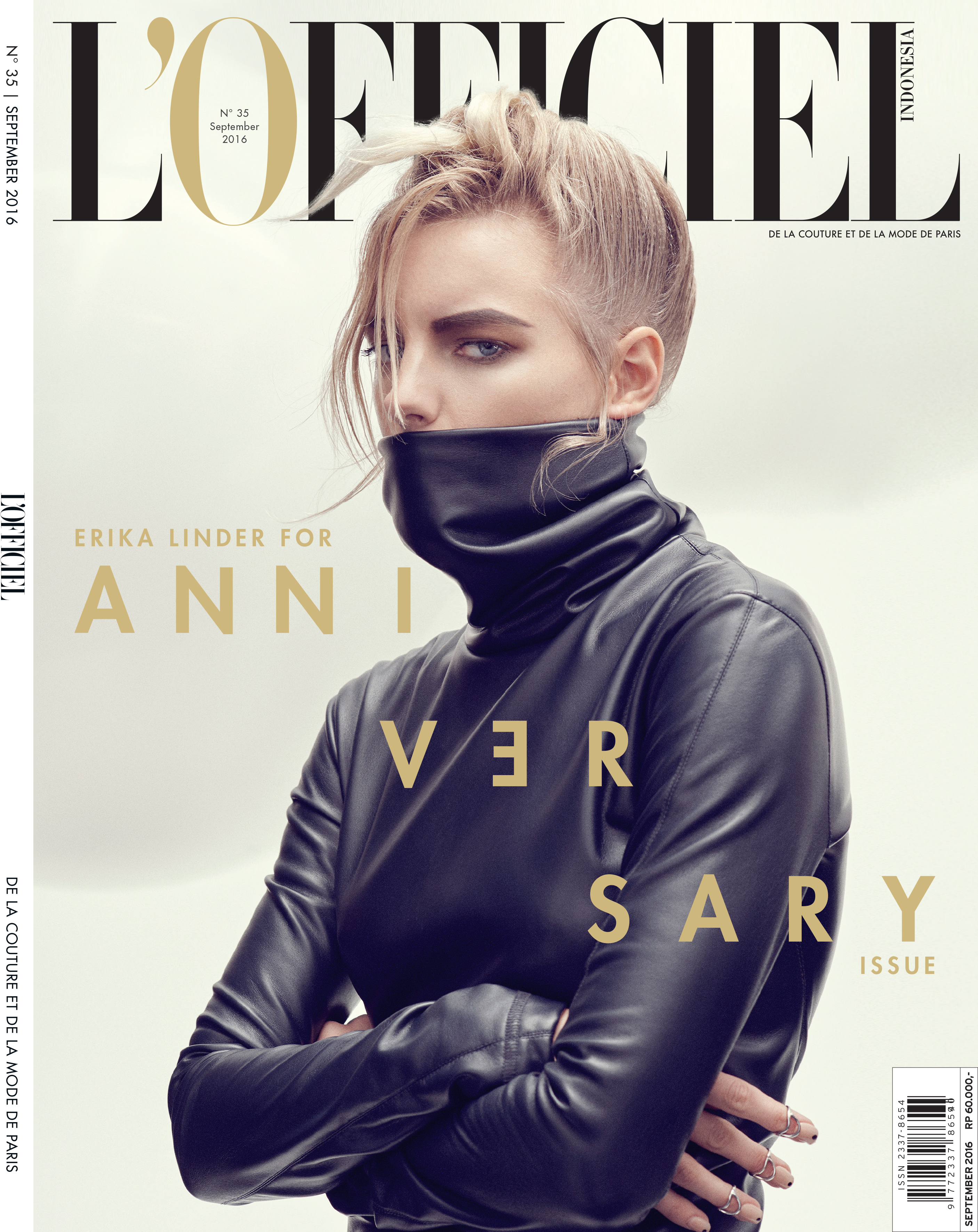 COVER L'OFFICIEL SEPTEMBER ISSUE