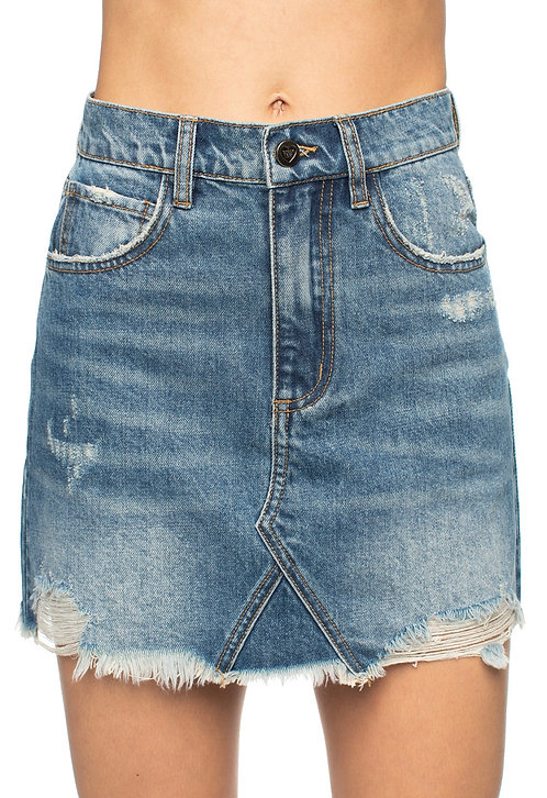Valley Girl Jean Skirt