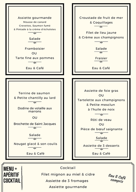 menu d'affaire page 3