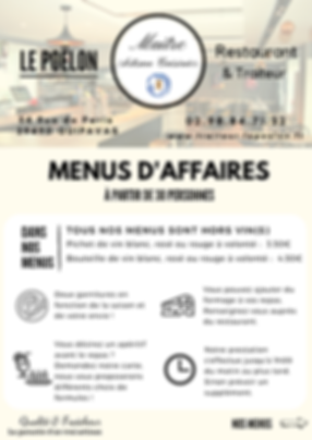 menu d'affaire page 1