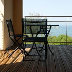 terrasse couverte villa de la baie