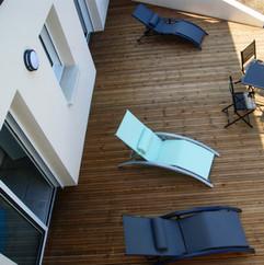 terrasse bas villa baie