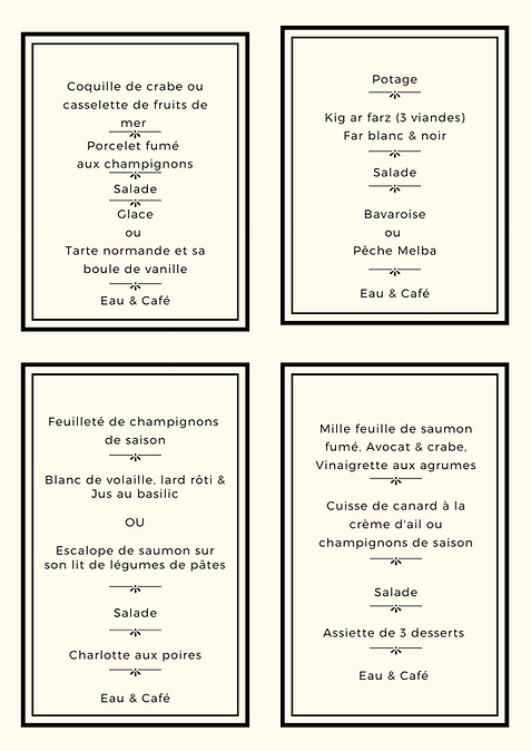 menu d'affaires page 2