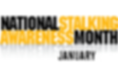 National Salking Awareness Month logo