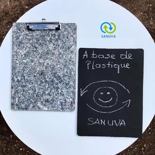 Ardoise scolaire et porte-document A4 à base de plastiques 100 % recyclés