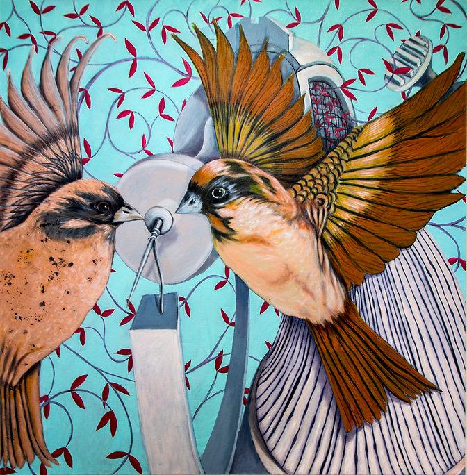 J Todd Allison, Todd Allison, contemporary painter, artist, birds, patterns