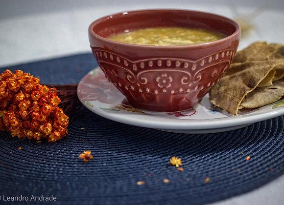 Sopa proteica: Legumes com frango