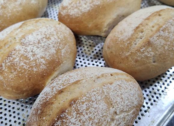 Pão francês vegano.
