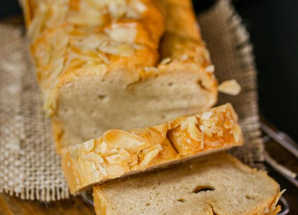 Pão Lowcarb com amêndoas e linhaça sem glúten e sem lactose