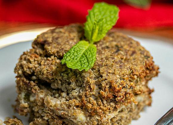 Quibe de carne com quinoa sem glúten com recheio de requeijão