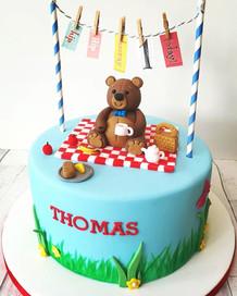 A teddie bear picnic to celebrate Thomas