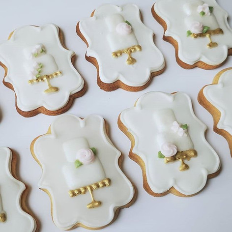 Bridal cookies for @bridesdressrevisited