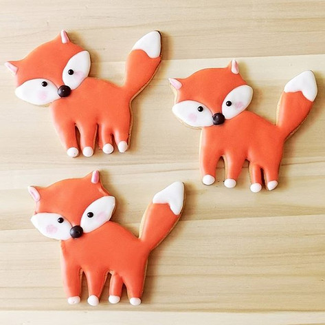 So sweet! #foxcookies #sarahhuntercakede