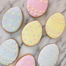 Easter egg cookies #baublebakery #seveno