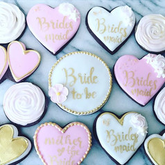Chocolate bridal shower cookies. #bauble