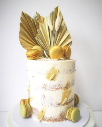 Gold palm spears cake