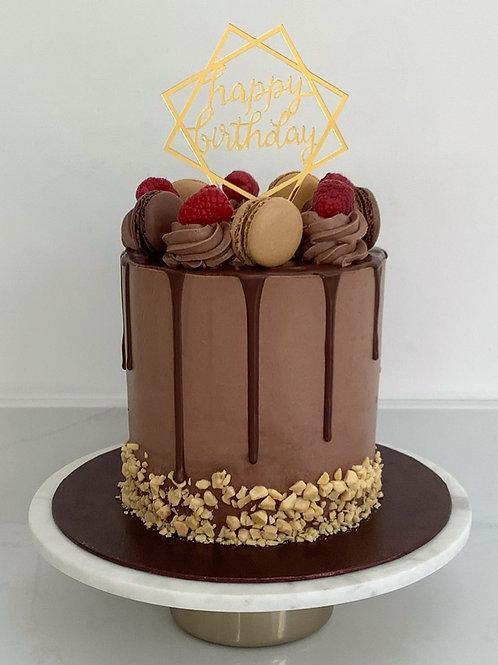 Tall Belgium Chocolate Drip Cake