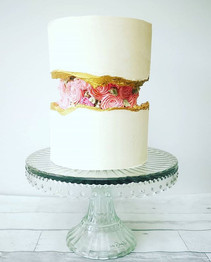 Buttercream fault line cakes might just