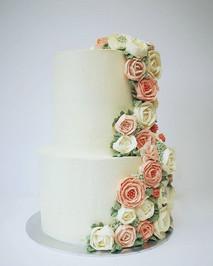 Buttercream Cascade Wedding Cake.... my