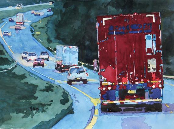 Suzanne Natzke Northbound At Dusk 14x19 trans 1400.jpg