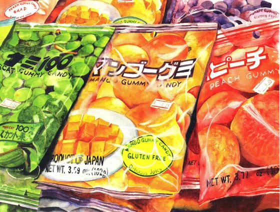 Yummy Gummy Diane Simon 9x13 NFS Aqueous