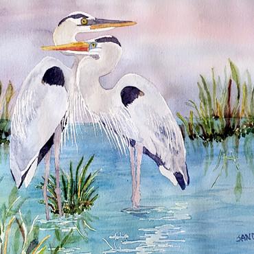 Blue Heron Love
