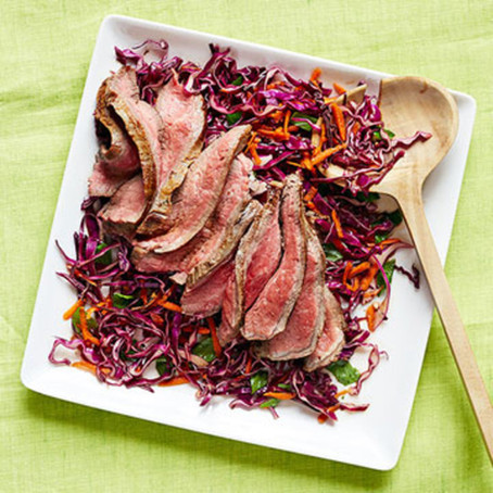 Sweet and Spicy Steak Slaw