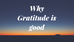 Why Gratitude is Good