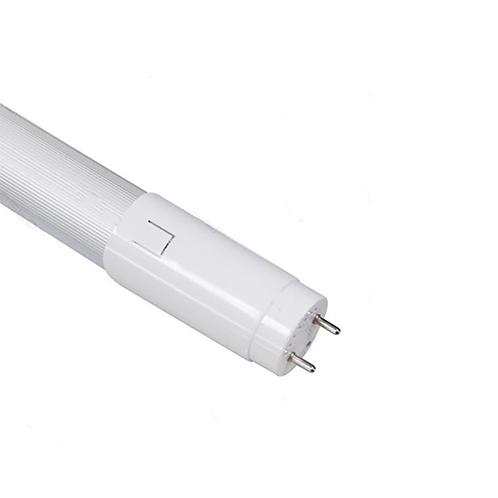 LED T8 10W 0.6M 3000K Half-aluminum plastic