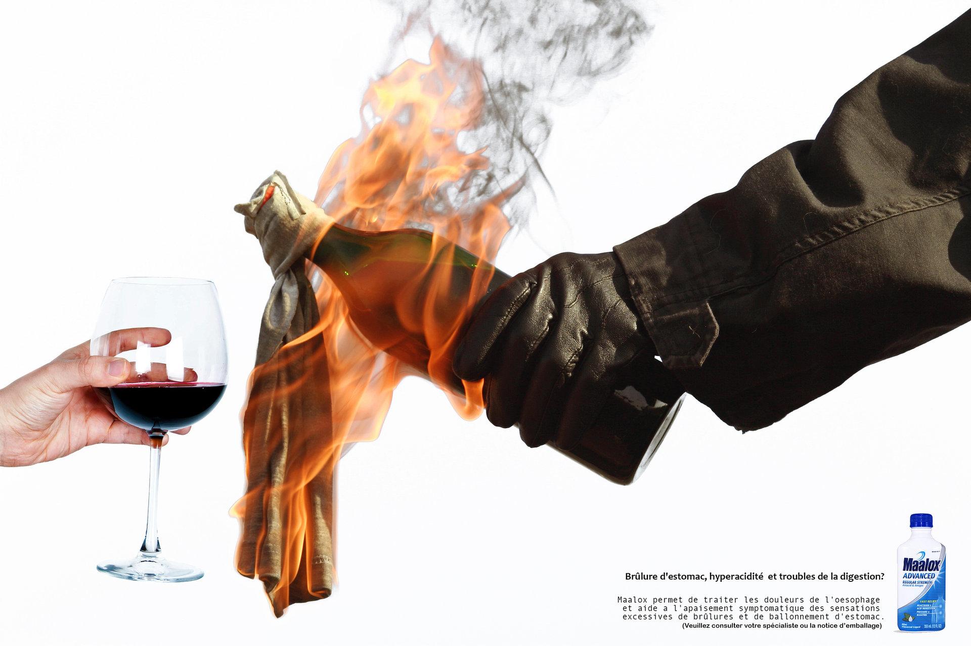 """Print AD """"Molotov"""" Maalox"""