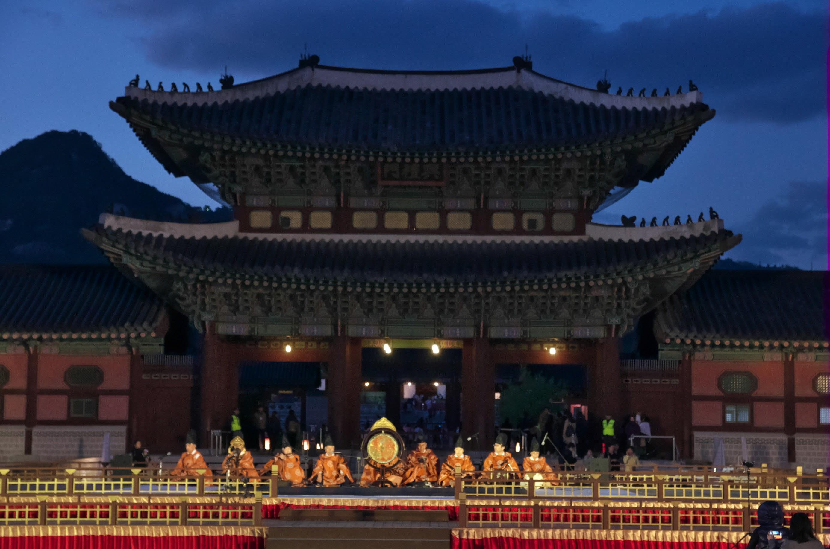 在景福宫前在首尔